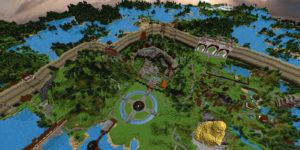 map minecraft empire du dragon vue haut