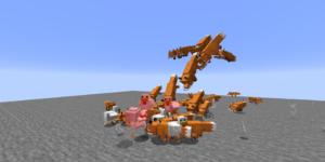 groupe de renards qui attaquent poules minecraft 1.14