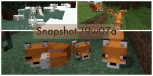minecraft 1.14 snapshot 19w07a renard
