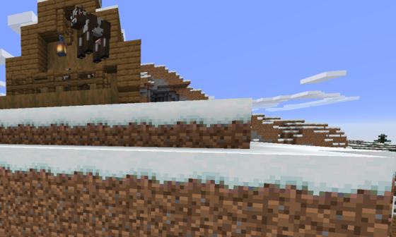 bloc texture terre neige