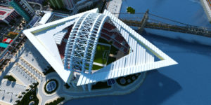 republic of nation islands stade vue de haut