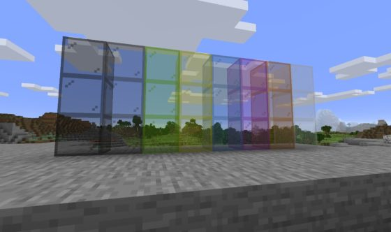 verre coloré minecraft