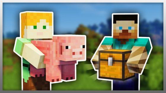 carry on mod minecraft cochon et coffre