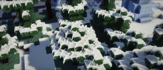 edi's shaders arbre neige