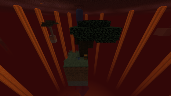 hellblock map minecraft ile départ