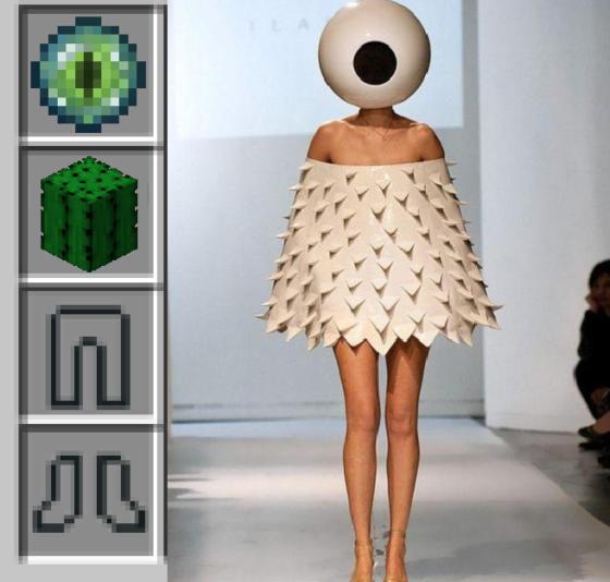 meme minecraft oeil cactus