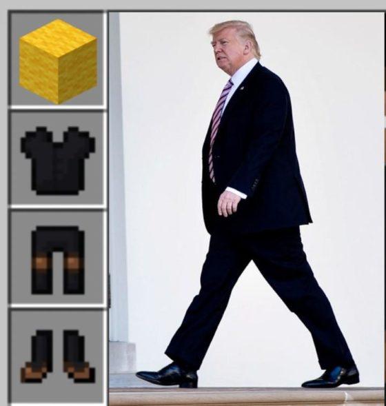 meme minecraft donald trump