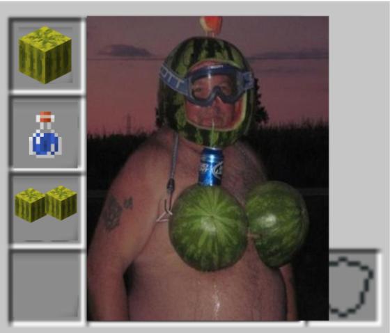 meme minecraft masque melon