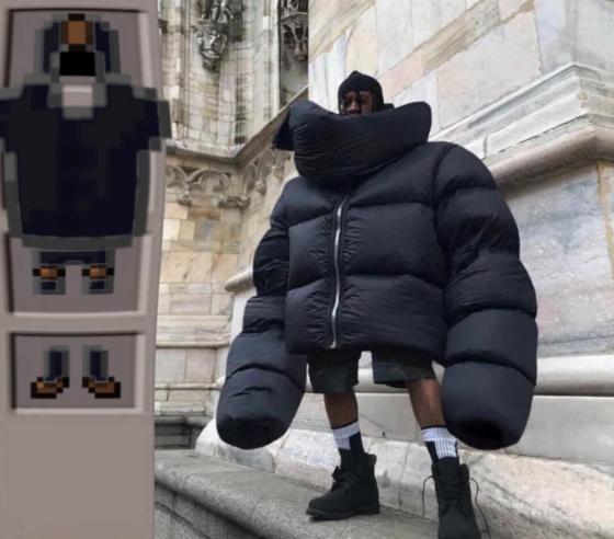 meme minecraft grosse veste