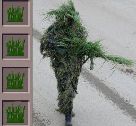 meme minecraft soldat herbe