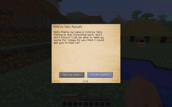 mod millenaire minecraft interface de quête