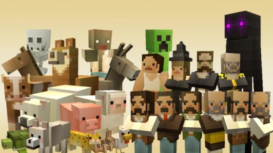 c-tetra pack de ressources minecraft personnages