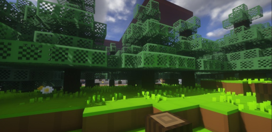 pack de ressources minecraft the random dot's 8 x 8 forêt
