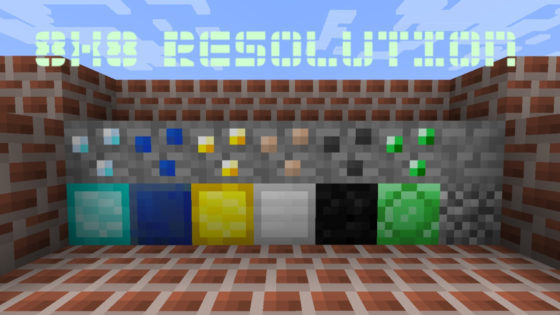 pack de ressources minecraft the random dot's 8 x 8 resolution
