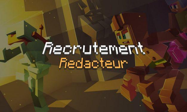 Recrutement de Rédacteurs sur Minecraft.fr