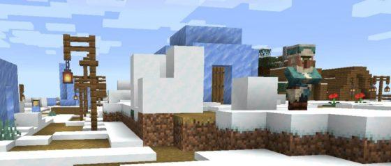 Minecraft 1.14 : Snapshot 19w12a village glace