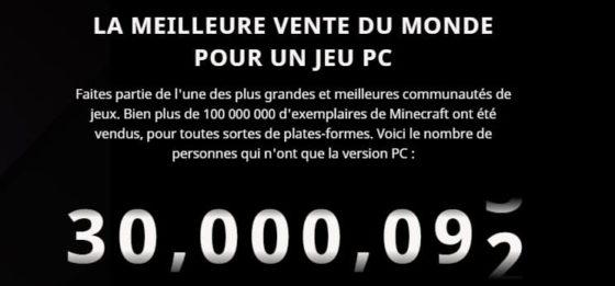 vente 30 millions minecraft