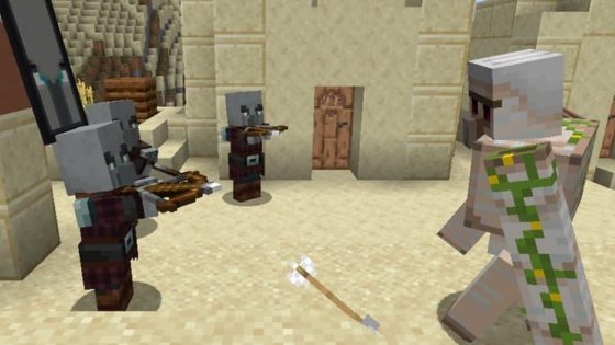 golem attaqué par pillard minecraft