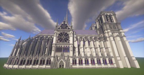vitrail cathédrale notre dame paris minecraft