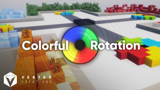 colorful rotation map minecraft