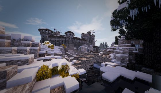 mod minecraft conquest reforged monde neige