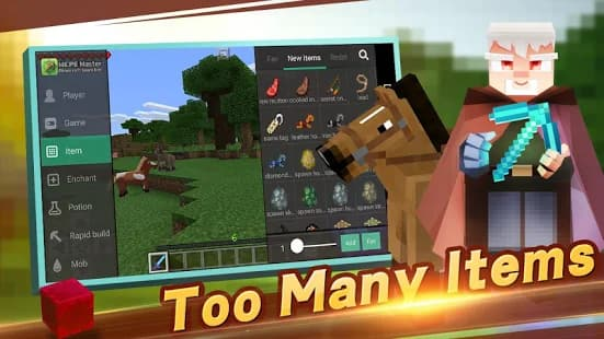 too many items mcpe master
