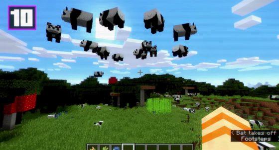 pandas qui volent minecraft 1.14