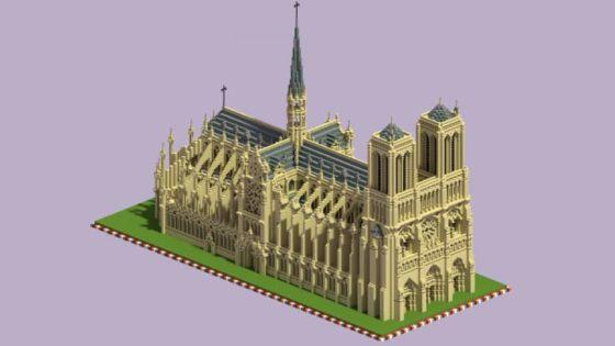 schematic cathédrale notre dame paris minecraft
