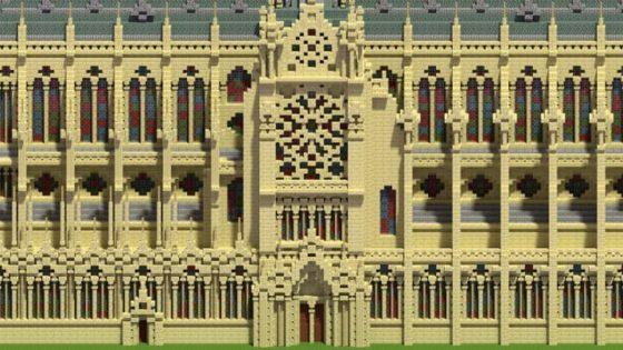schematic cathédrale notre dame paris minecraft détail