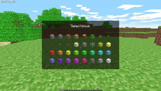 selection bloc minecraft classique