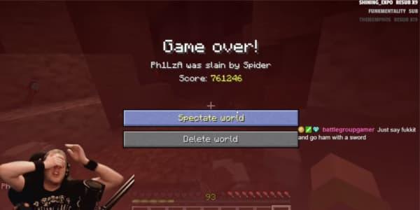 Une partie de Minecraft Hardcore longue de plus de 5 ans finit de la pire façon