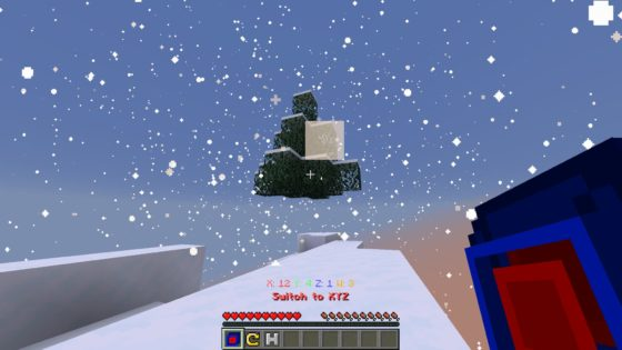 map minecraft the hypercube neige