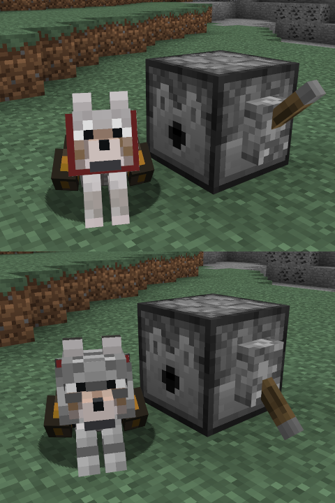 mod minecraft wolf armor and storage dispenser