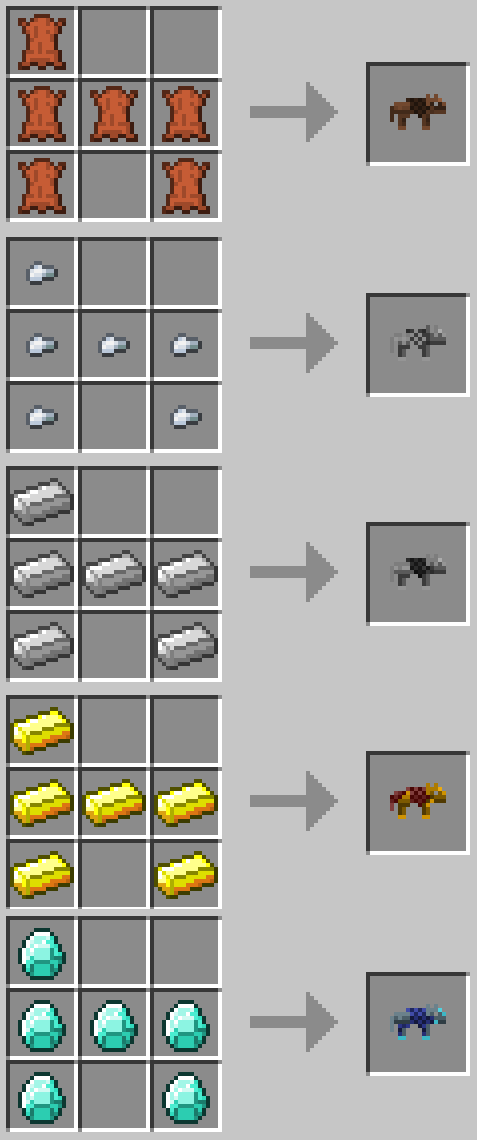mod minecraft wolf armor and storage recettes