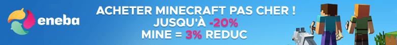 Acheter minecraft moins cher