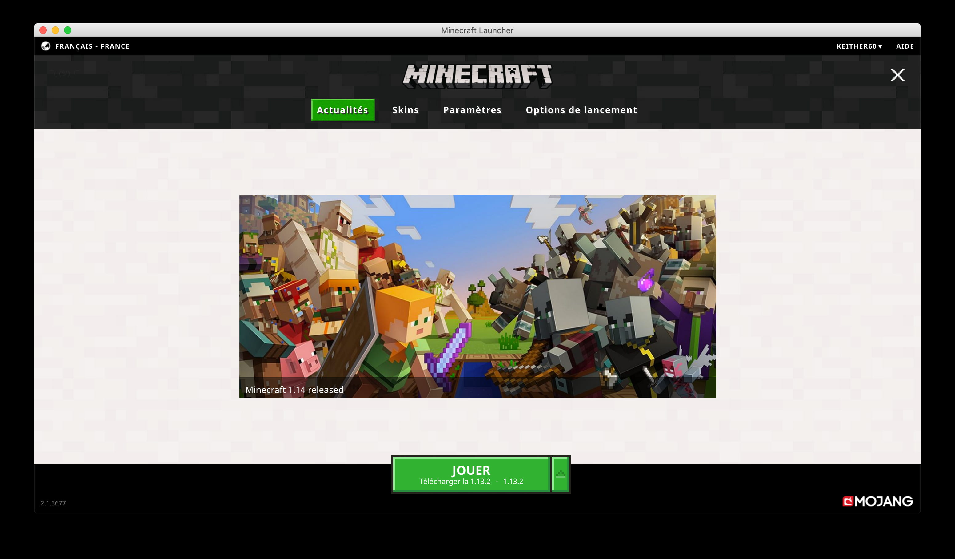 ancien launcher minecraft