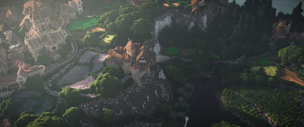 Continuum Shaderspack Minecraft : Chateau sur colline