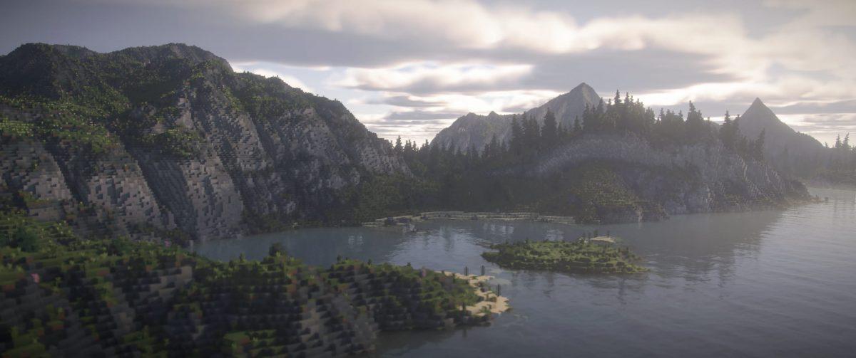 Continuum Shaderspack Minecraft : Paysage de montagne