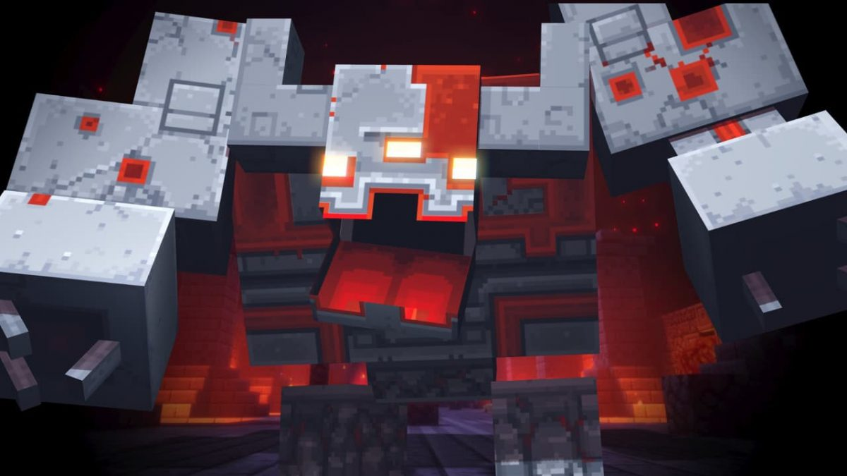 minecraft dungeons boss redstone monstrosoty
