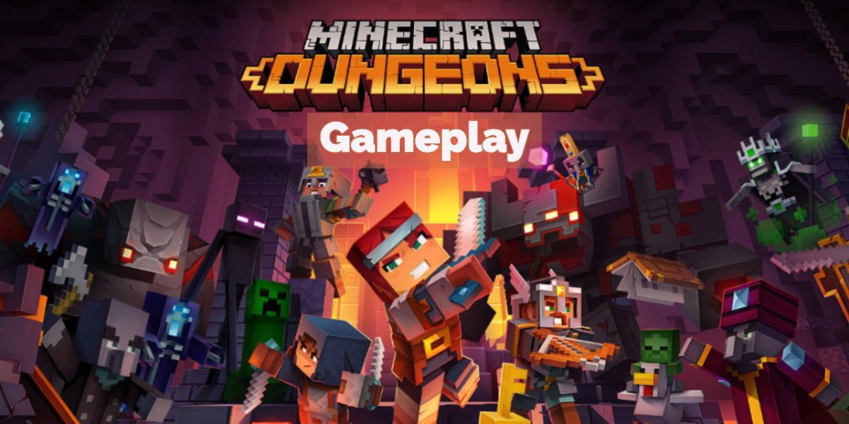 Première vidéo de gameplay et date de sortie pour Minecraft : Dungeons