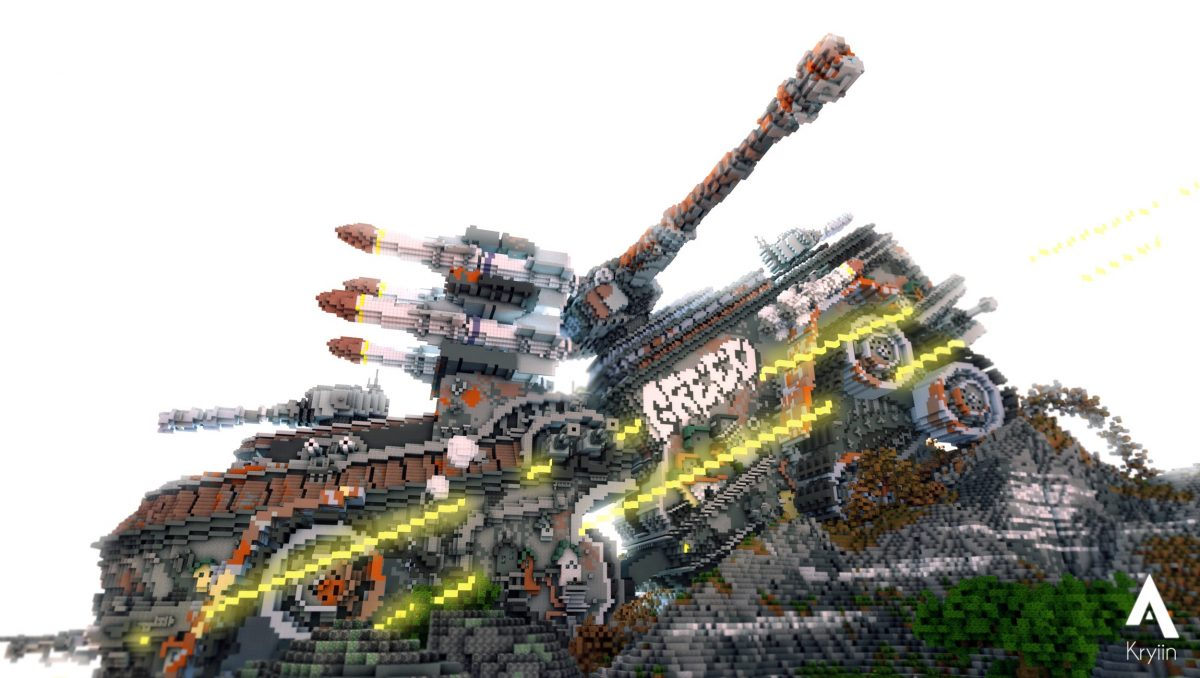 Defenseless Map Minecraft Vahicule de Combat Côté