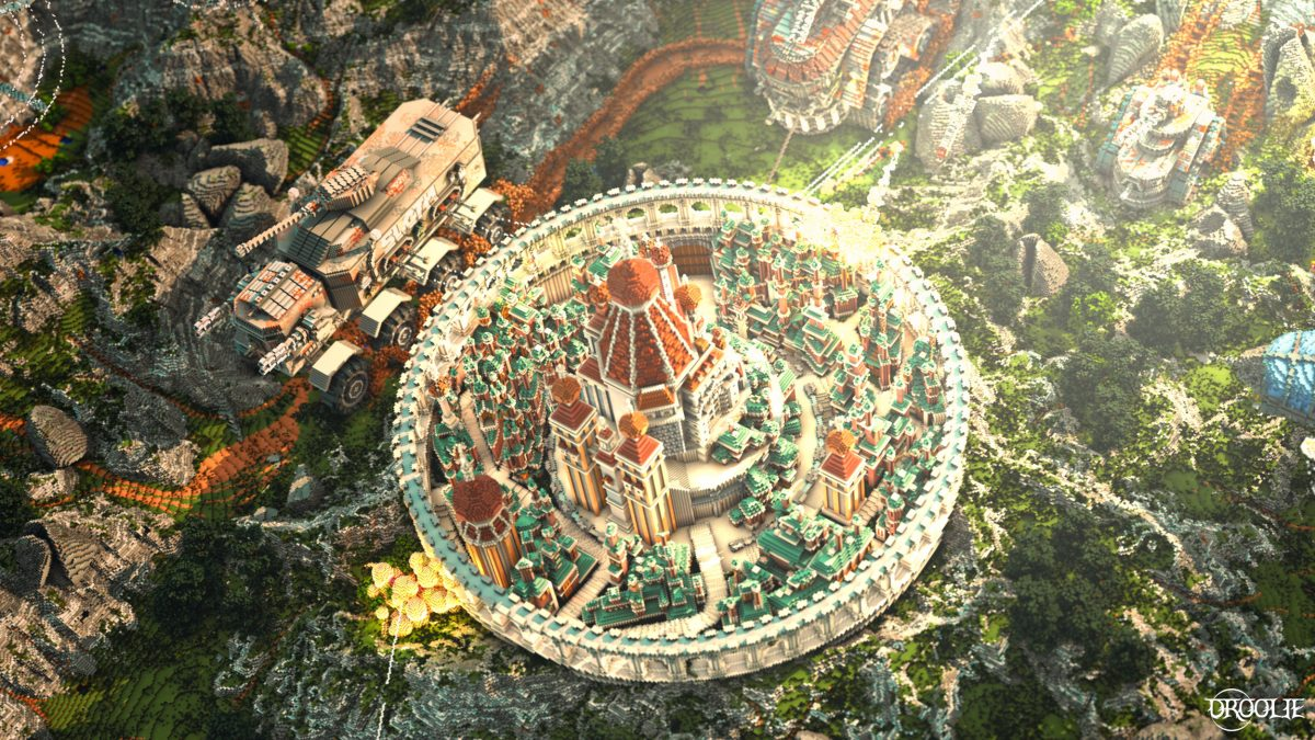 Defenseless Map Minecraft Citadelle Vue du Haut
