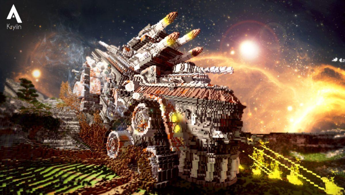 Defenseless Map Minecraft Véhicule de Combat Face