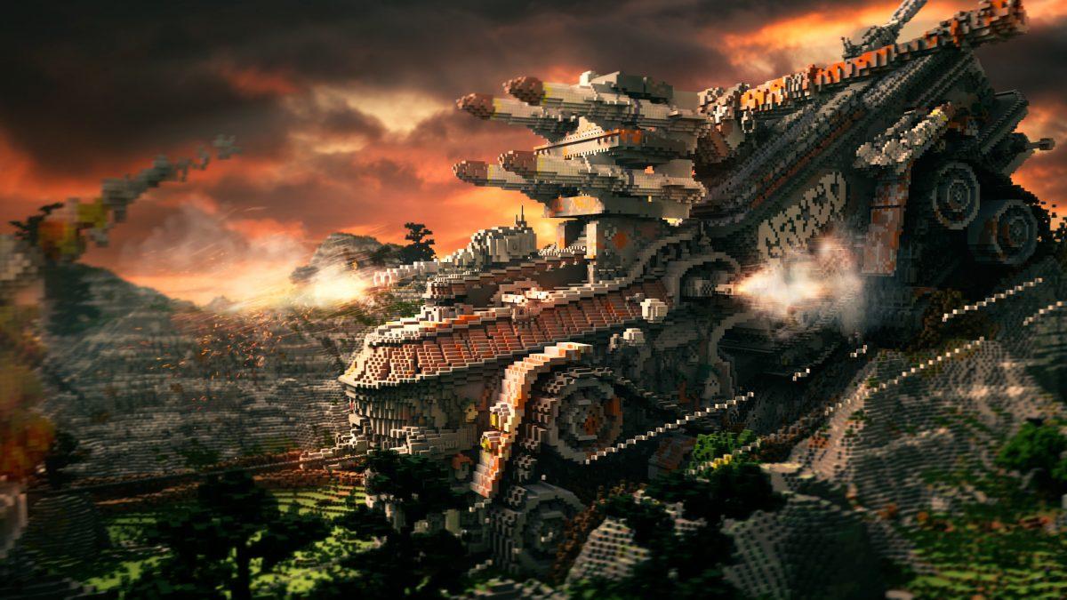 Defenseless Map Minecraft Véhicule de Combat