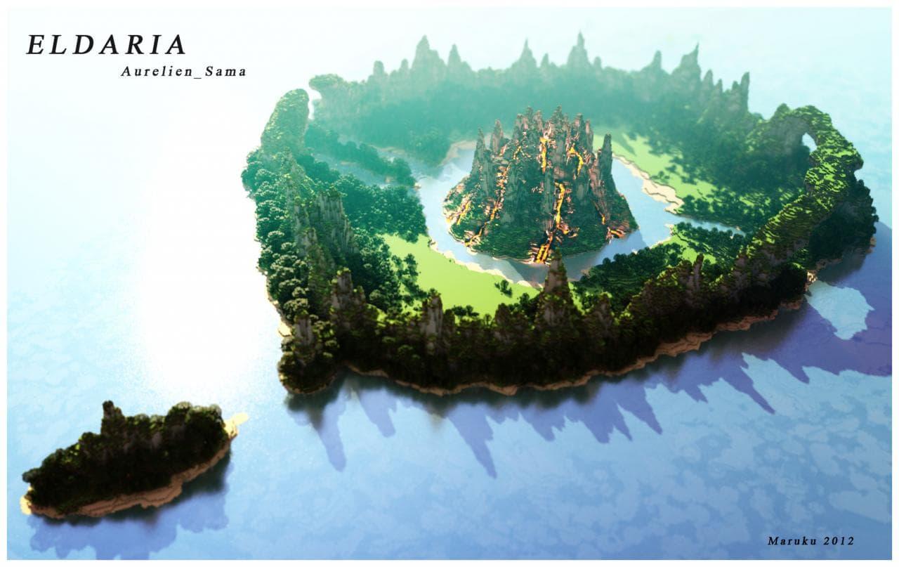 Map Minecraft Survie : la map Eldaria créée par Aureli_Sama