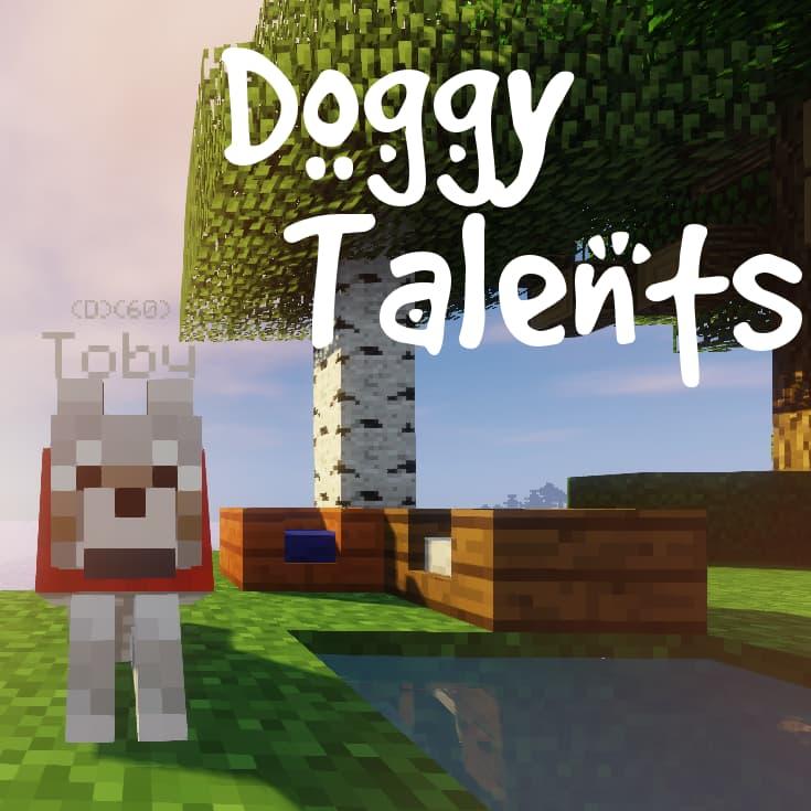 doggy talents mod minecraft logo