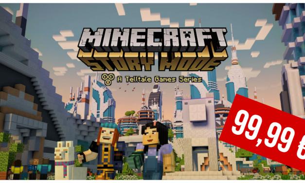 Minecraft: Story Mode en vente à 99,99€ sur Xbox 360