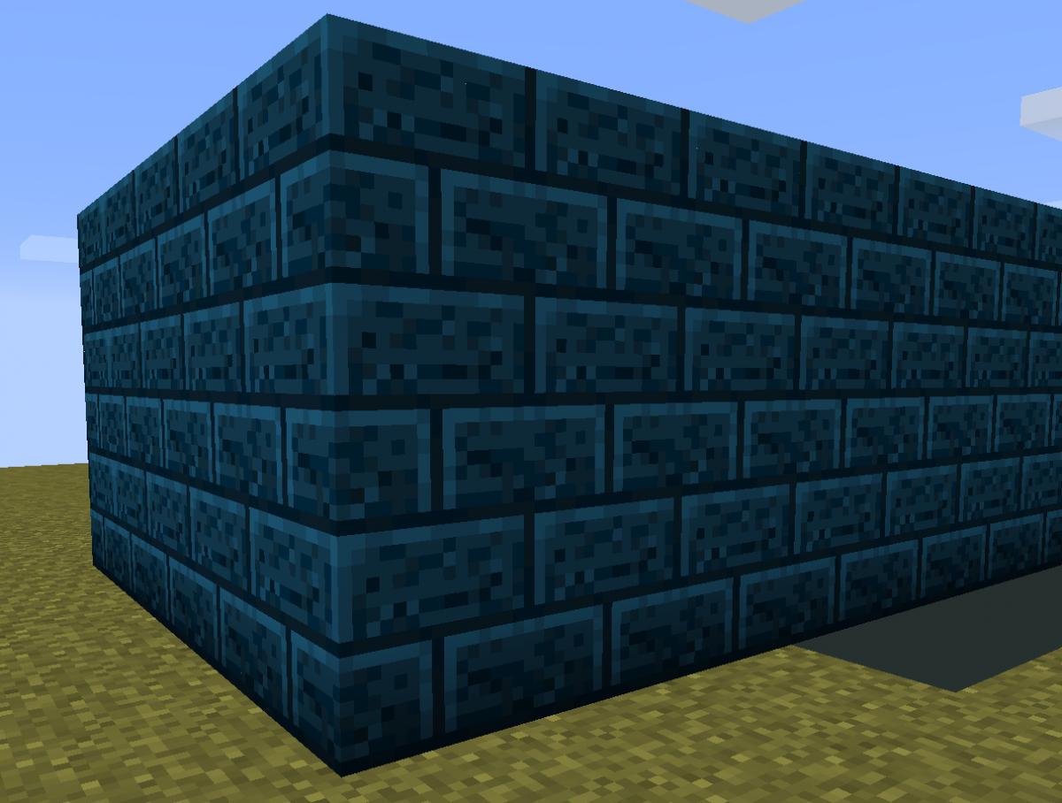 mur bleu mod minecraft chisels bits