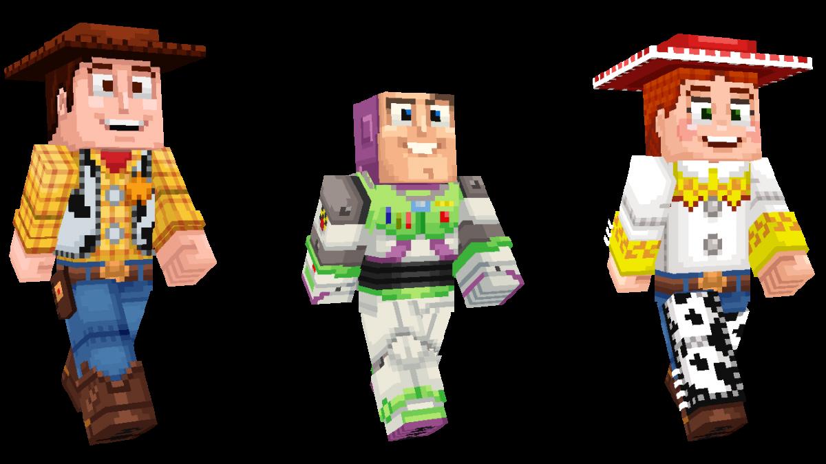 Skin Toy Story Minecraft Buzz Woody