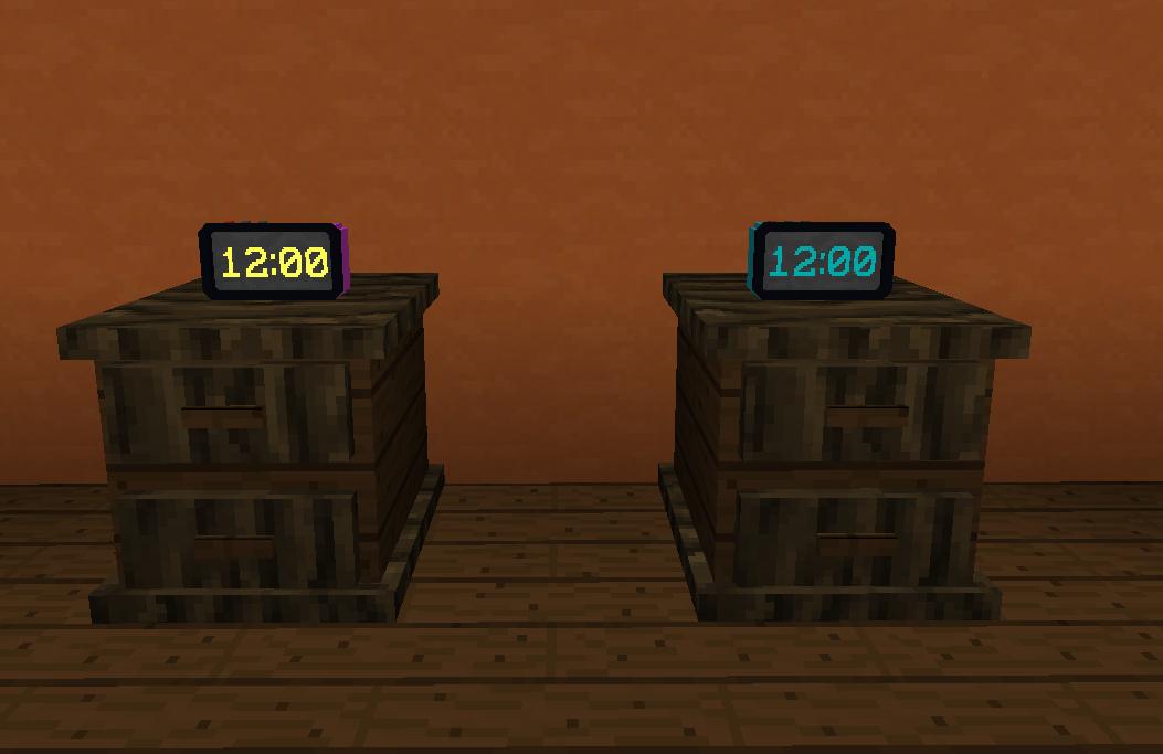 horloge numérique MrCrayfish's Furniture Mod